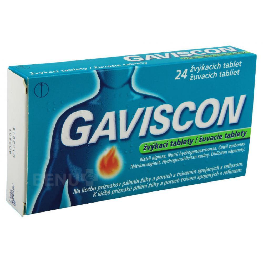 GAVISCON žvýkací tablety 24 tablet