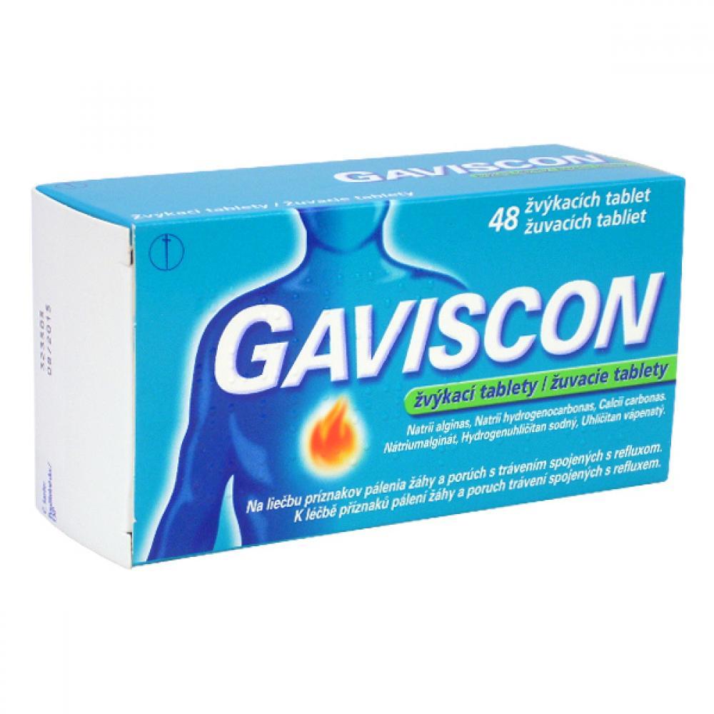 GAVISCON ŽVÝKACÍ TABLETY 48 Žvýkací tablety