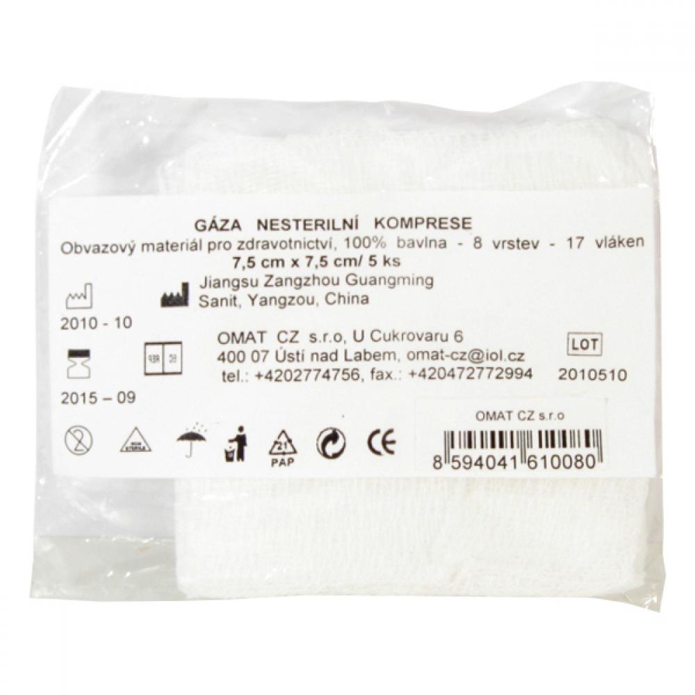 Gáza kompr.nester.7.5x7.5cm/5ks CJZ