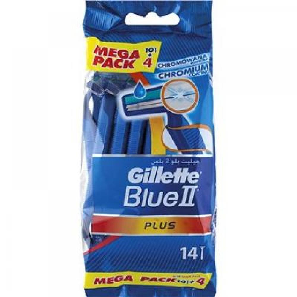 GILLETTE Blue II Plus holítko 10+4 ks