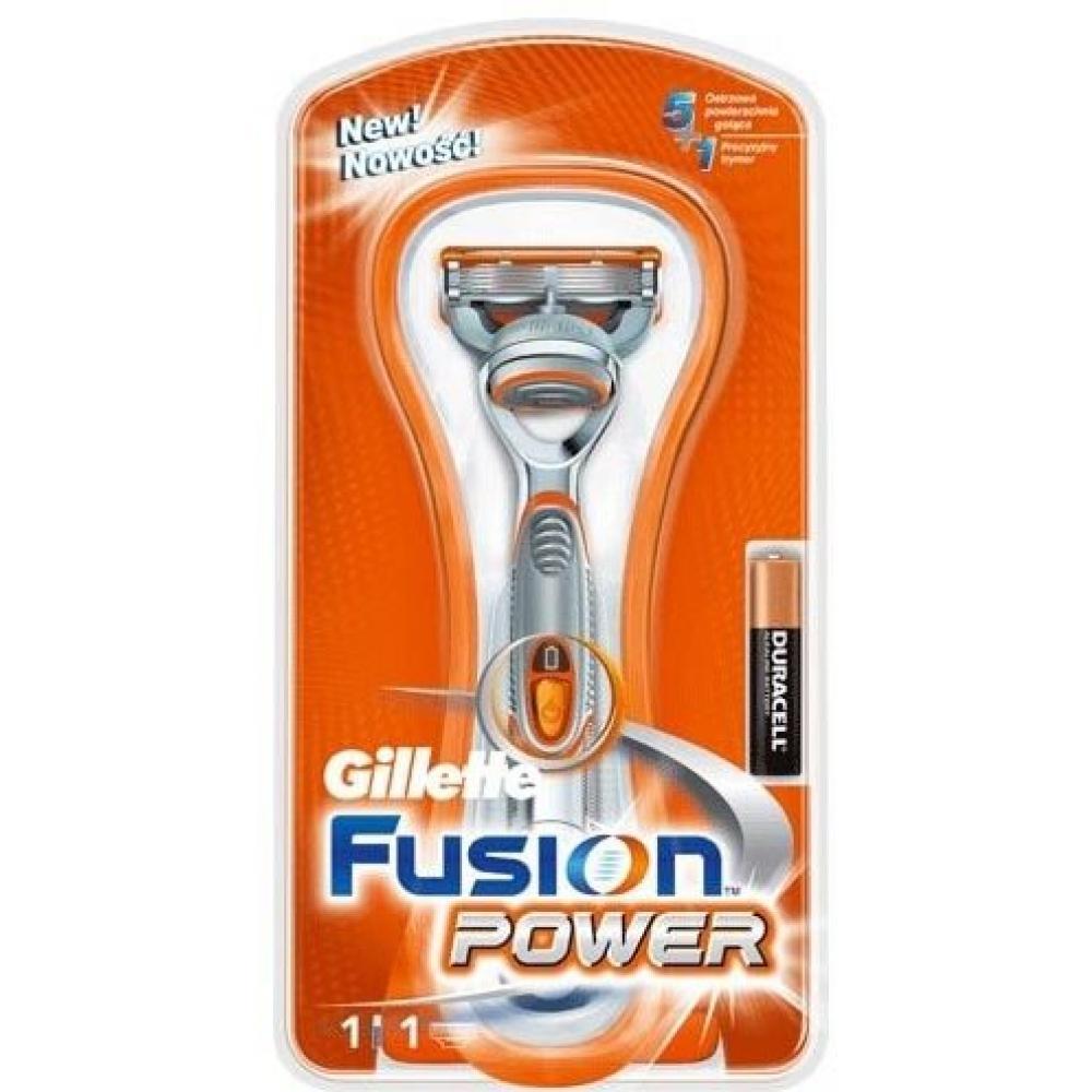 GILLETTE Fusion POWER holící strojek + náhradní hlavice 1 ks