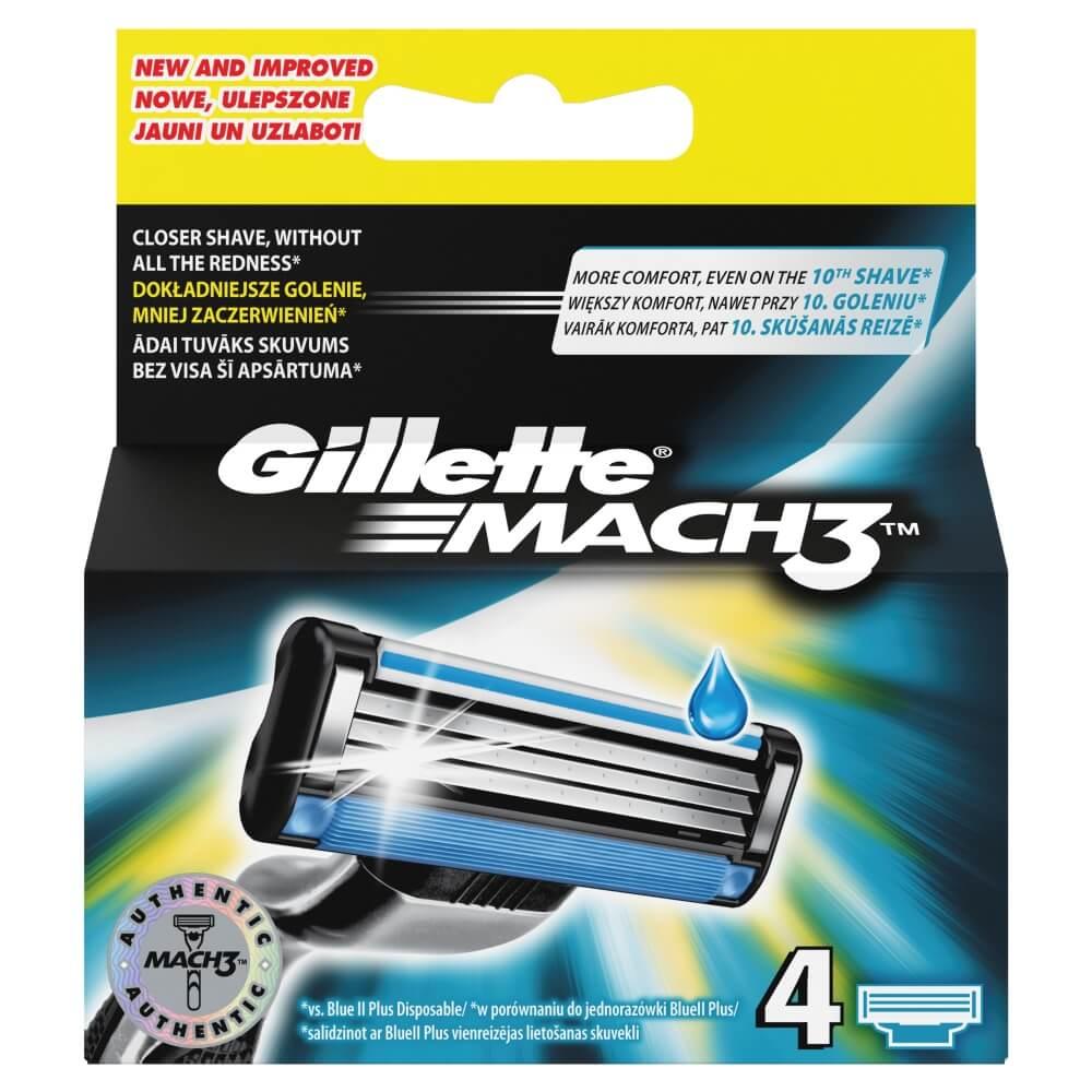 Gillette Mach 3 - 4 náhradní hlavice