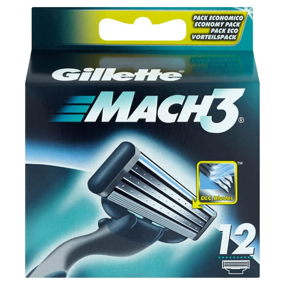 Gillette Mach3 náhradní hlavice 12ks