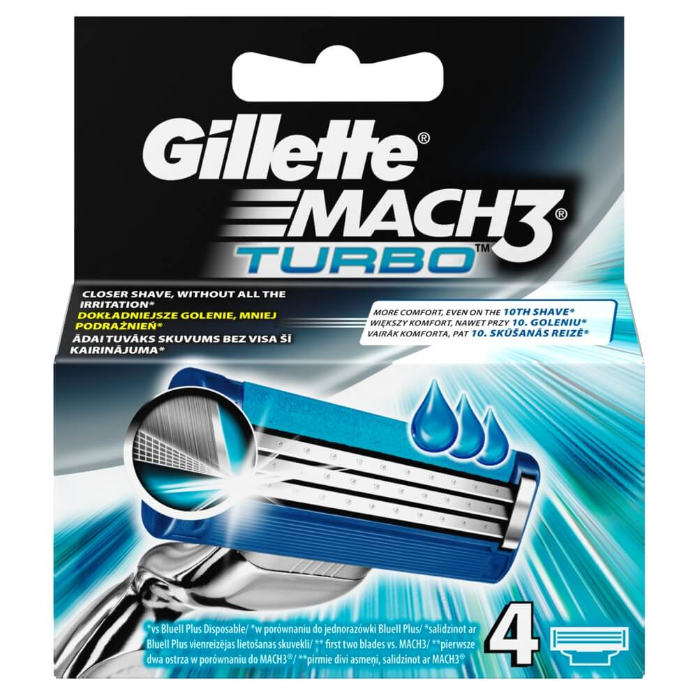 Gillette Mach 3 Turbo Ostatní 4 hlavice