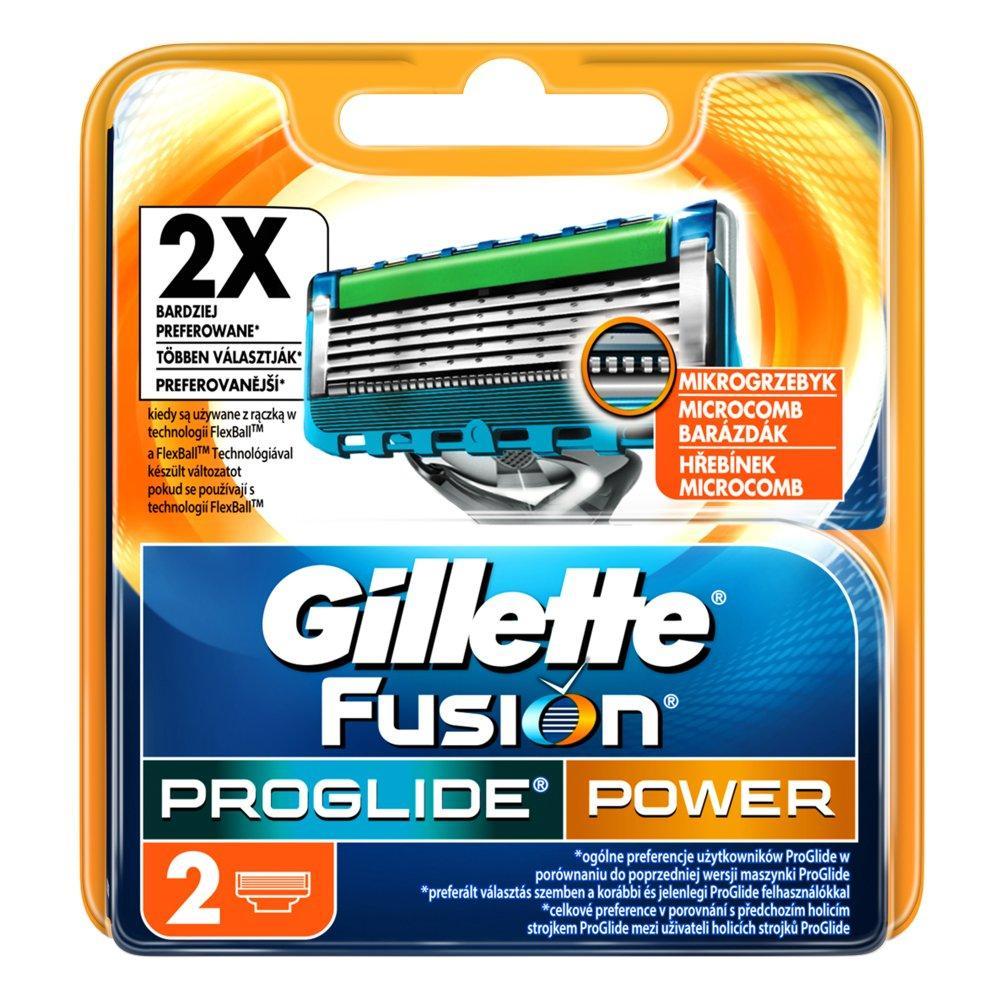 GILLETTE Fusion PROGLIDE Power náhradní hlavice 2 ks