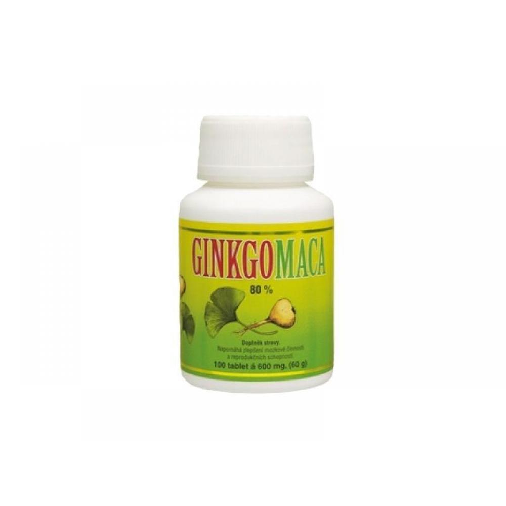 Ginkgo maca bylinné tablety 100 tbl. á 600 mg
