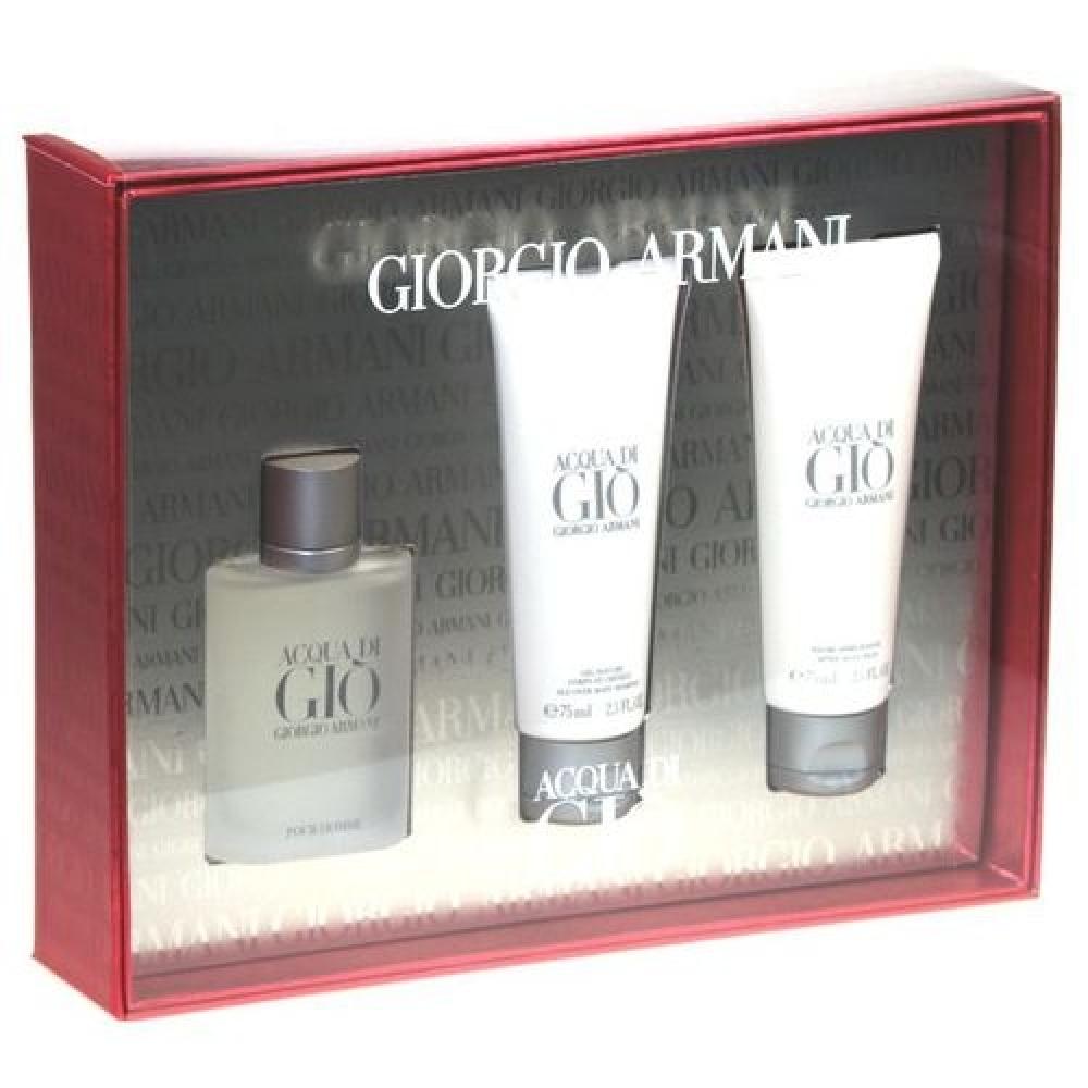 Giorgio Armani Acqua di Gio Toaletní voda 50ml Edt 50ml + 75ml balsam po holení + 75ml sprchový gel