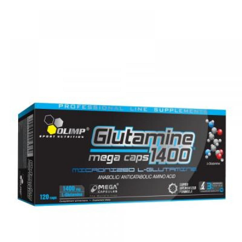 Glutamine Mega Caps, Olimp, 120 kapslí