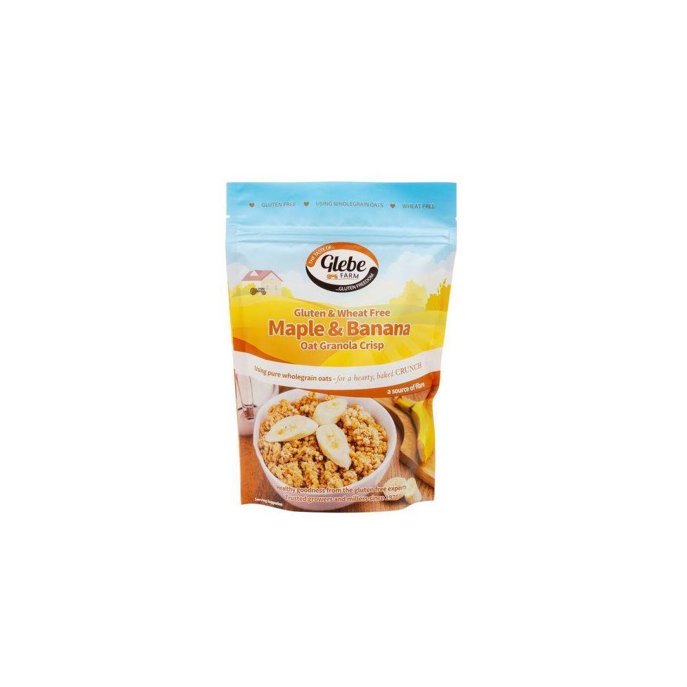 GLEBE FARM Granola křupavé müsli s banány a javorovou příchutí bezlepkové 325 g