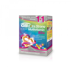GS Extra Strong Multivitamin 50+ 60+60 tablet dárek 2018