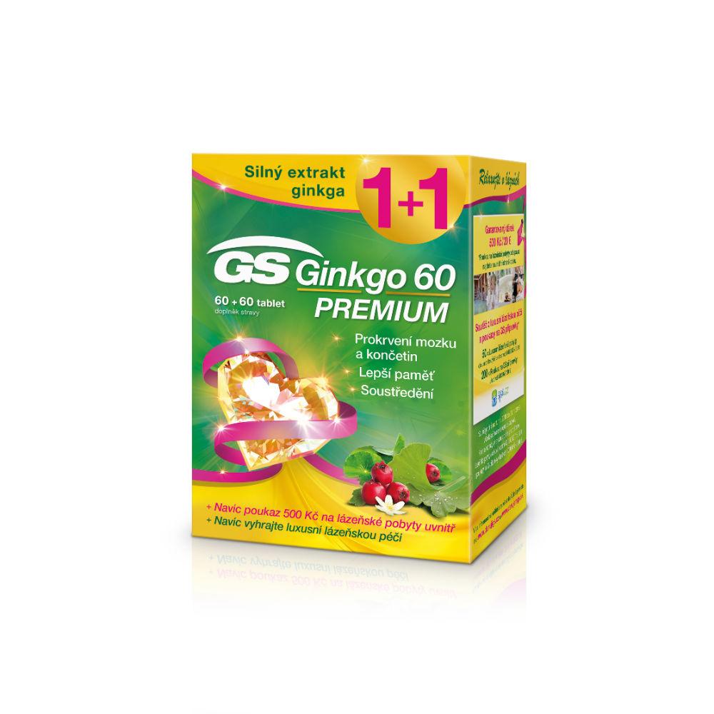 GS Ginkgo 60 Premium 60+60 tablet dárek 2018