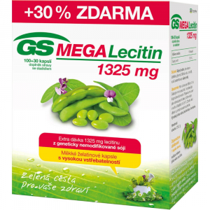 GS MEGA Lecitin 1325 mg 100+30 kapslí