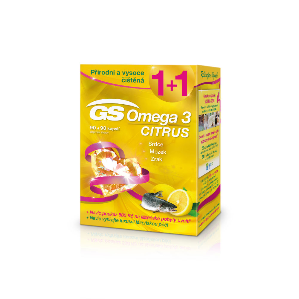 GS Omega 3 Citrus 90+90 kapslí dárek 2018