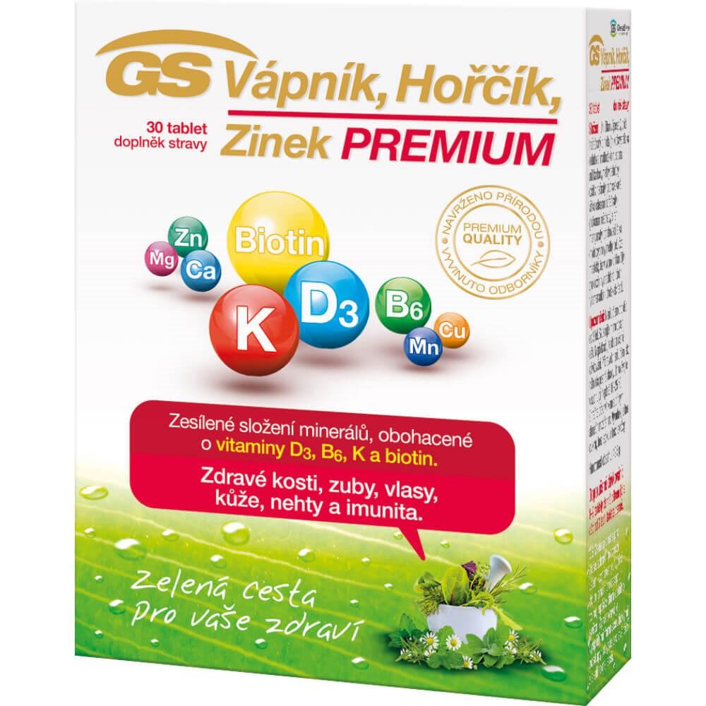 GS Vápník Hořčík Zinek Premium 30 tablet