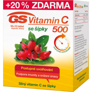 GS Vitamin C 500 se šípky 50 + 10 tablet