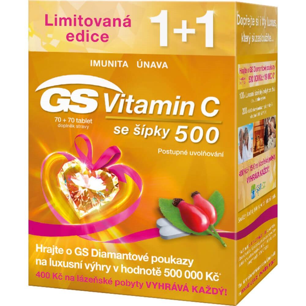 GS Vitamin C 500 se šípky 70+70 tablet dárek 2017