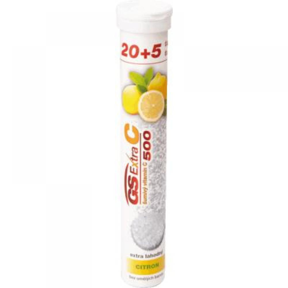 GS Extra C 500 šumivý citron 20+5 tablet