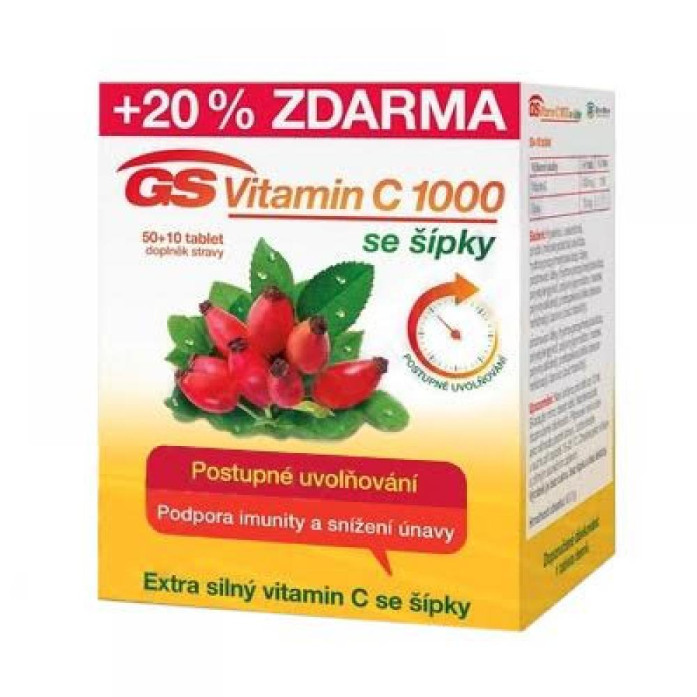 GS Vitamin C 1000 se šípky 50 + 10 tablet