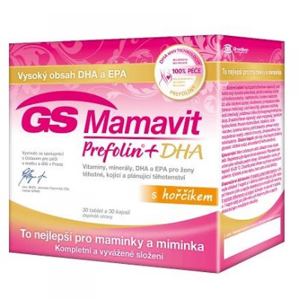 GS Mamavit Prefolin + DHA + EPA 30 tablet + 30 kapslí 2016