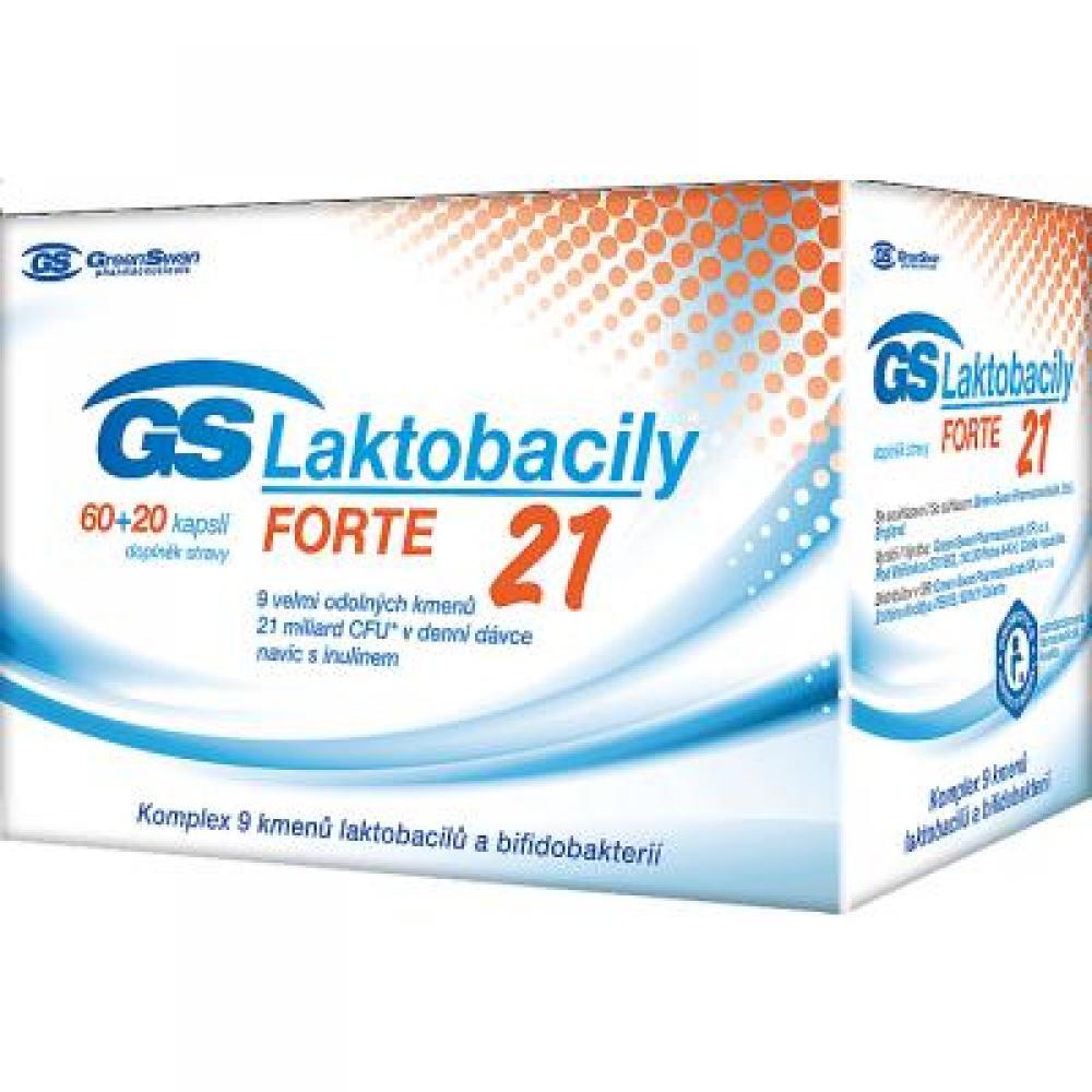 GS Laktobacily FORTE 21 – 60+20 kapslí
