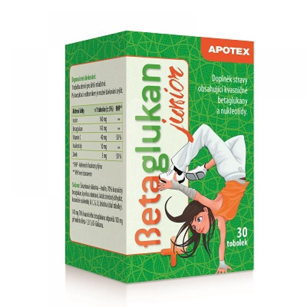 APOTEX Betaglukan JUNIOR 100 mg 30 tobolek