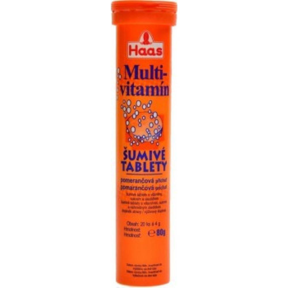 HAAS Multivitamin Pomeranč 20 šumivých tablet