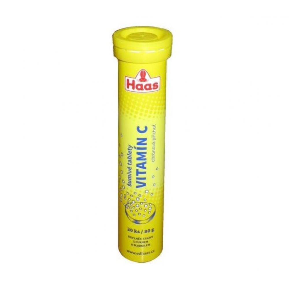 HAAS Vitamín C 20 x 80 g citron rozpustné tablety