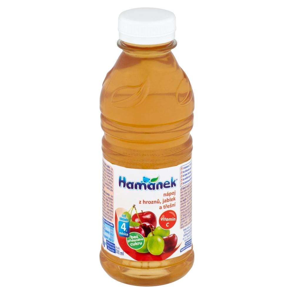 HAMÁNEK Nápoj z hroznů, jablek a třešní 500 ml