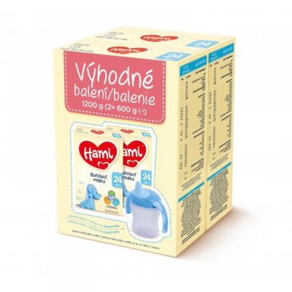 HAMI batolecí mléko 24+ výhodný balíček 2 x 600 g
