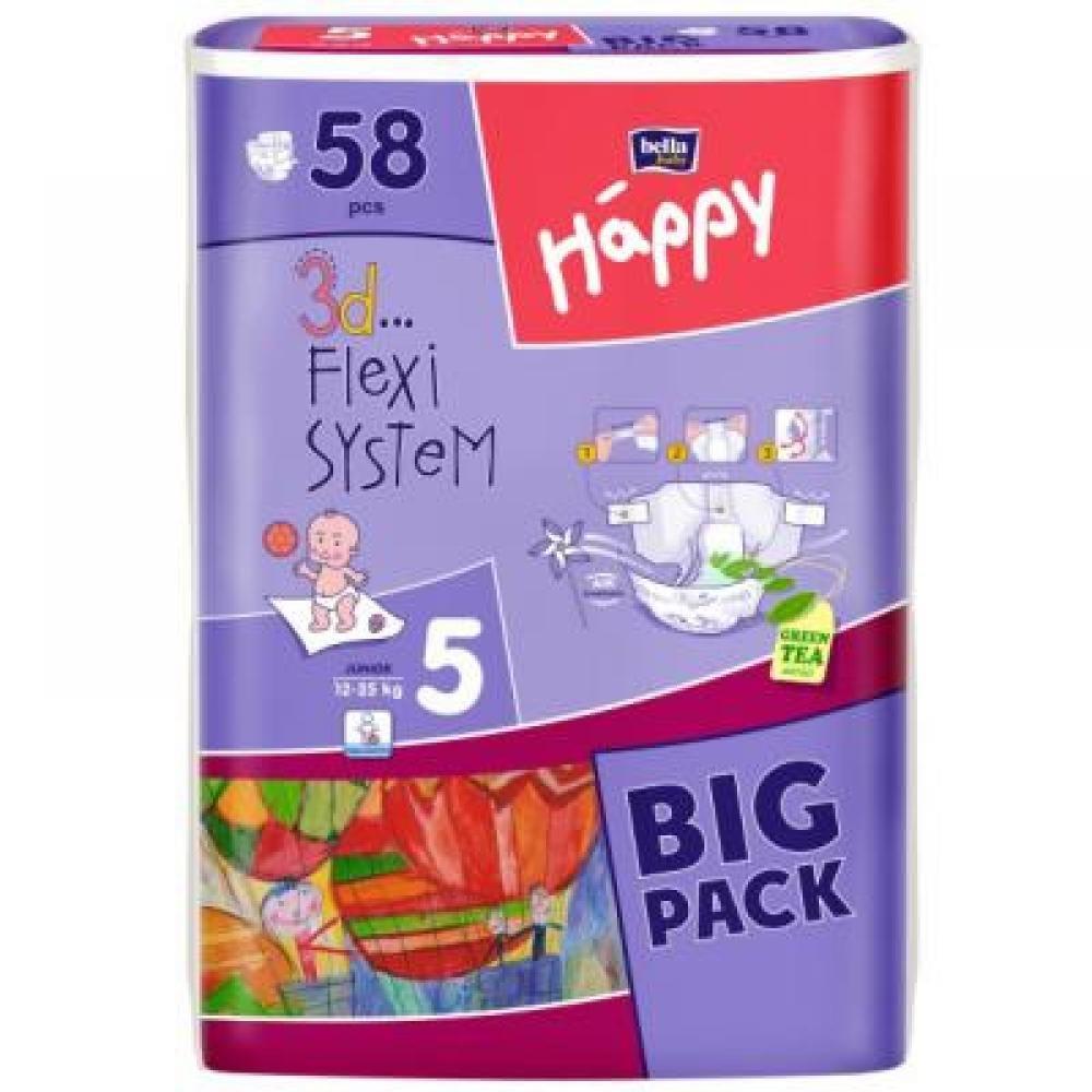 HAPPY Junior dětské pleny 58 ks
