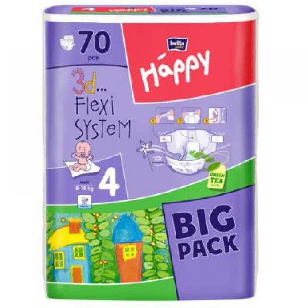 HAPPY Maxi dětské pleny 8-18 kg 66 ks