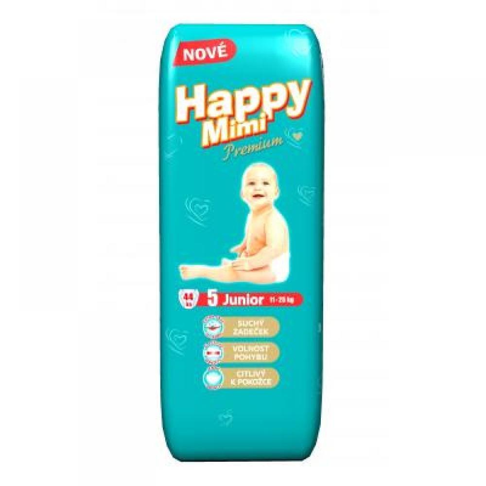HAPPY MIMI Dětské pleny Premium Junior 44 kusů