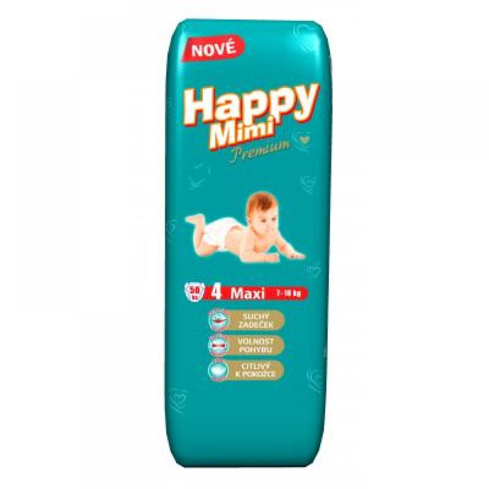 HAPPY MIMI Dětské pleny Premium Maxi 50 kusů