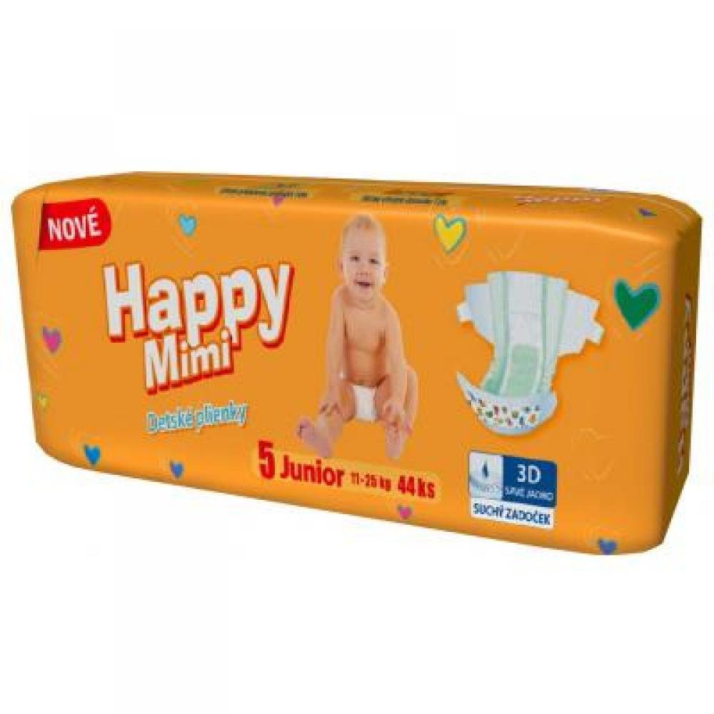Happy Mimi dětské pleny Standard Junior 44 kusů