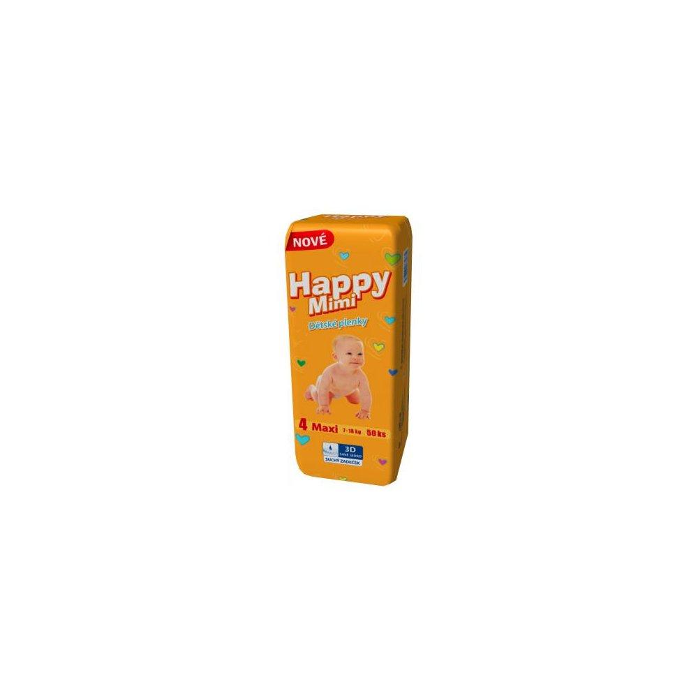 HAPPY MIMI Dětské pleny Standard Maxi 50 kusů