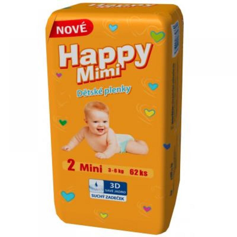 HAPPY MIMI Dětské pleny Standard Mini 62 kusů