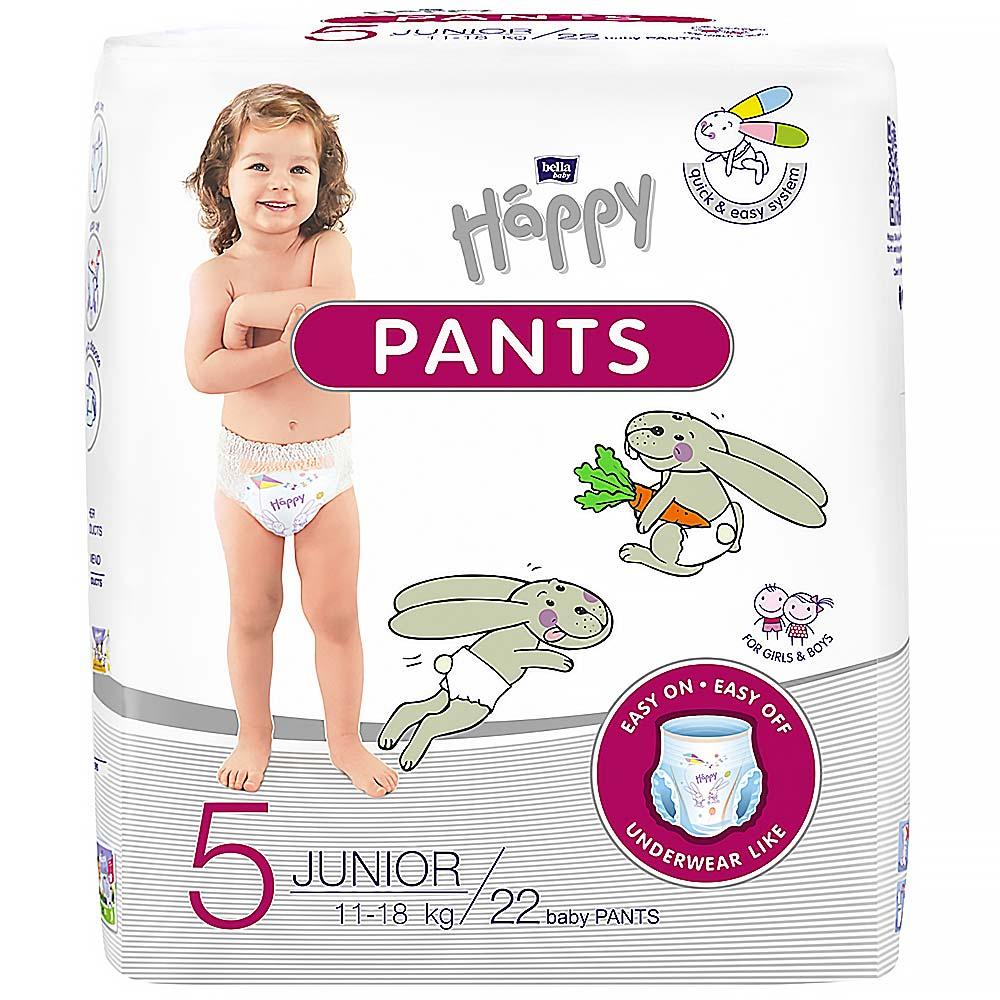 BELLA HAPPY Pants Junior natahovací plenkové kalhotky 22 ks