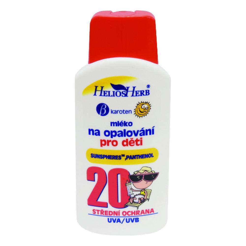 HELIOS Herb dětské mléko na opalování 200 ml OF 20
