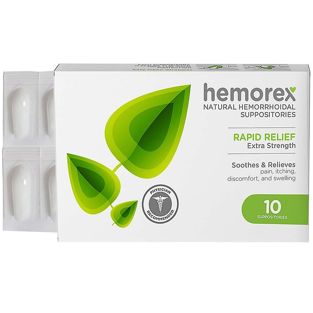 HEMOREX přírodní čípky na hemoroidy 10 ks