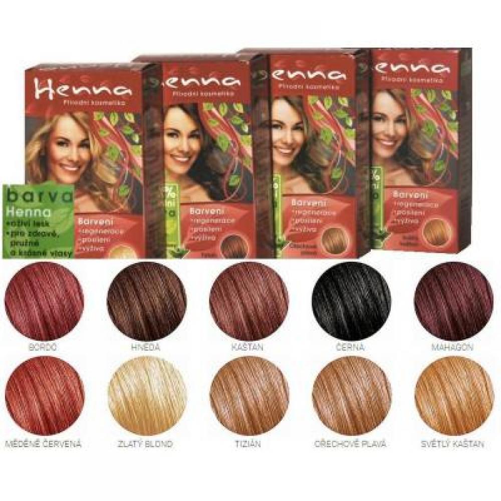 Důbrava HENNA přírodní barva na vlasy kaštan
