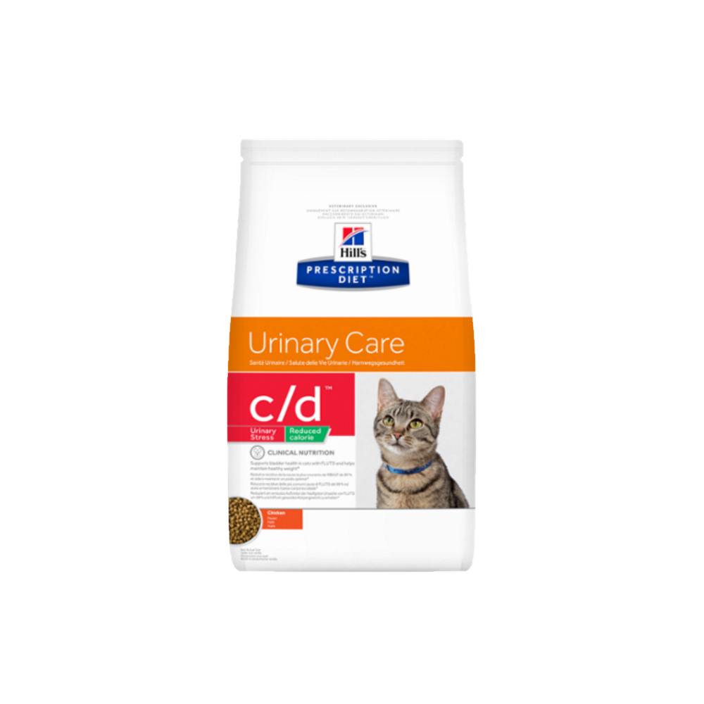 Hill's Prescription Diet™ c/d™ Feline Urinary Stress Reduced Calorie Chicken granule 1,5 kg