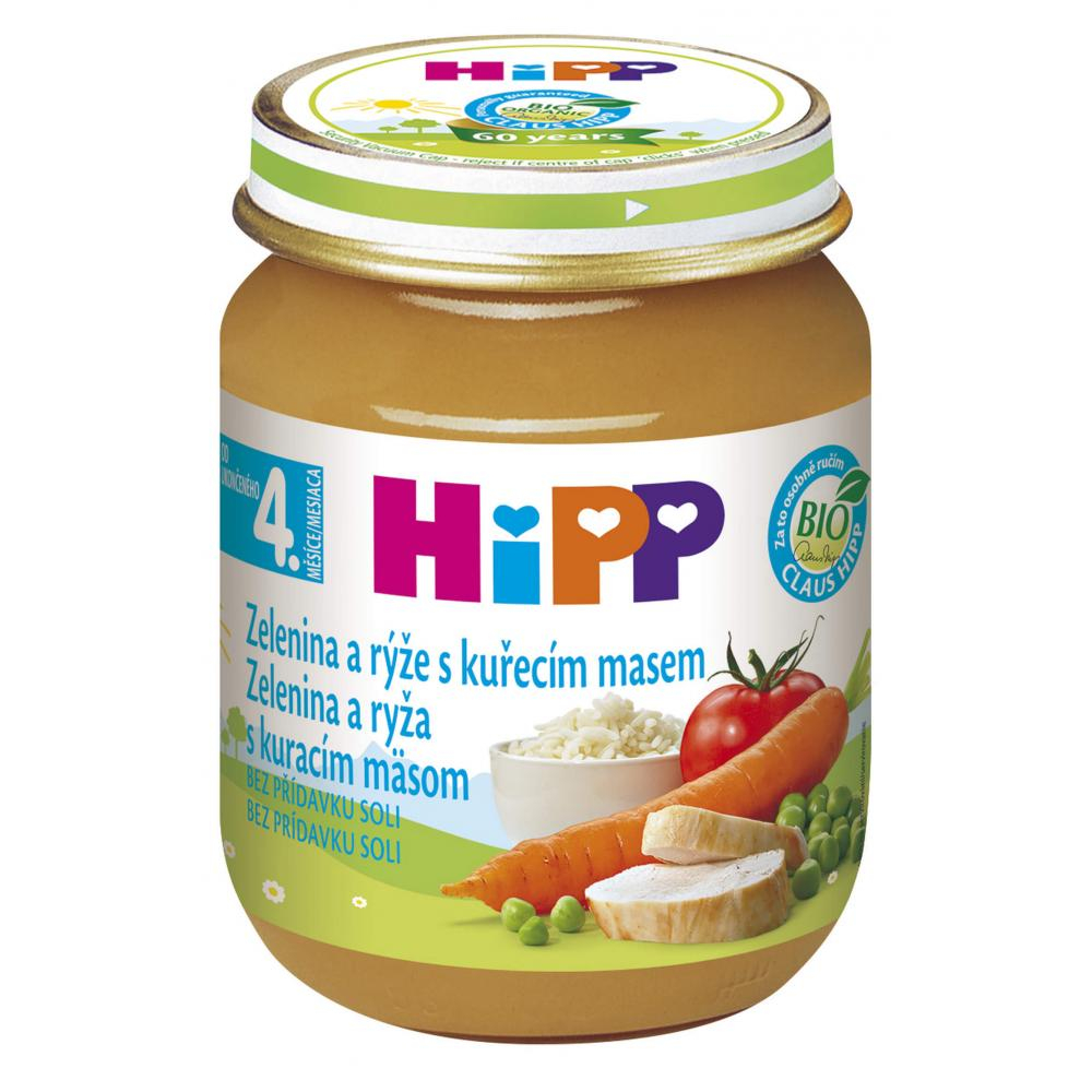 HiPP BIO Zelenina s rýží a kuřecím masem 125 g