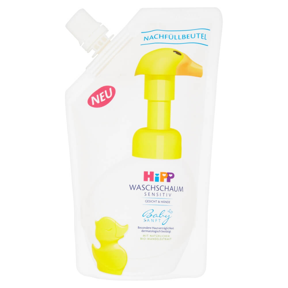 HiPP Babysanft Pěna na mytí Kachna Náhradní náplň (Kachna) 250 ml