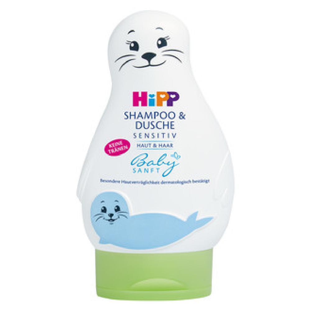 HiPP BabySanft Šampon Vlasy&tělo Lachtan 200 ml