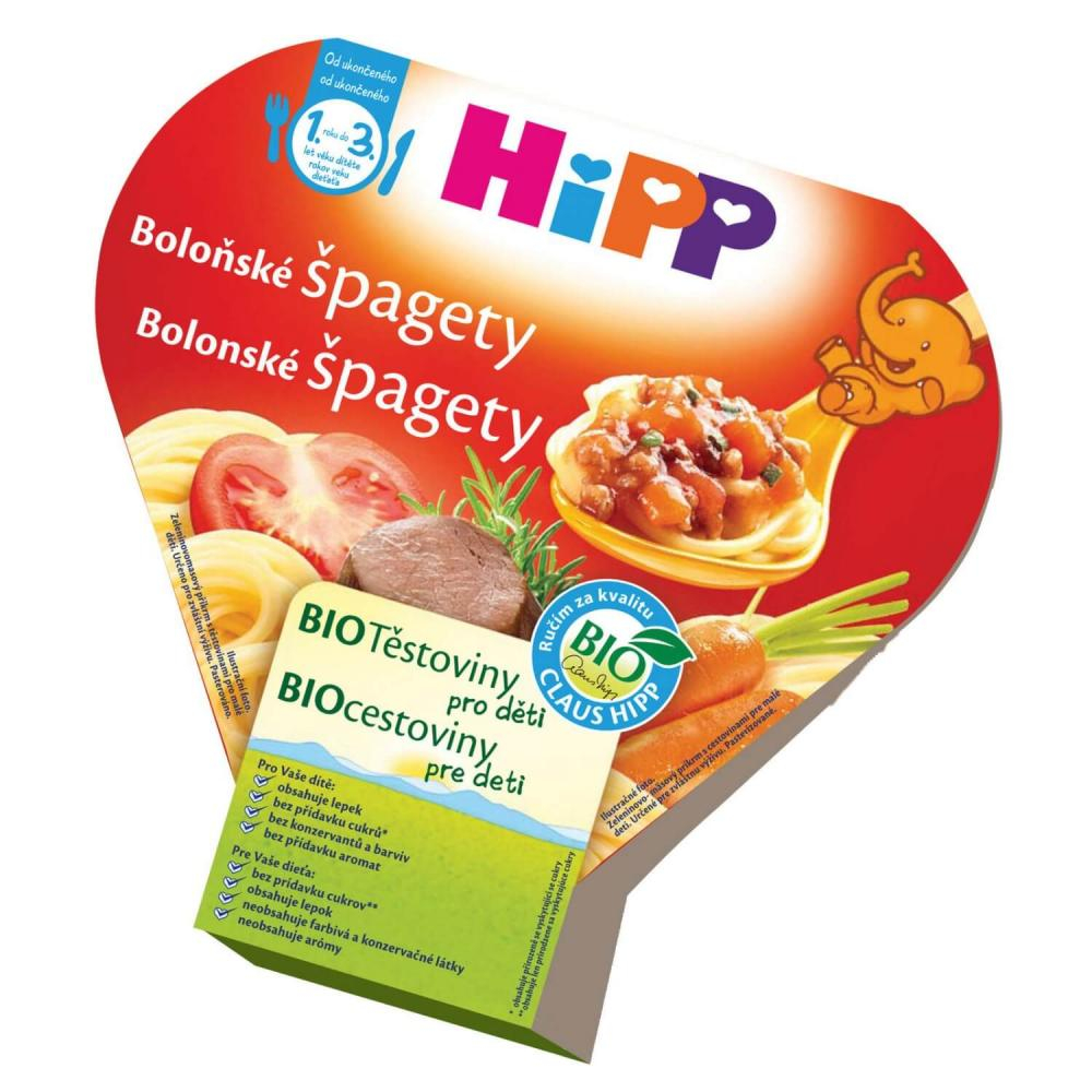 HiPP BIO DĚTSKÉ TĚSTOVINY Boloňské špagety 250g CZ8635