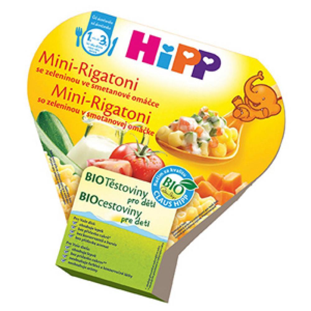 HiPP BIO DĚTSKÉ TĚSTOVINY Mini-Rigatoni zeleninová směs 250g CZ8638