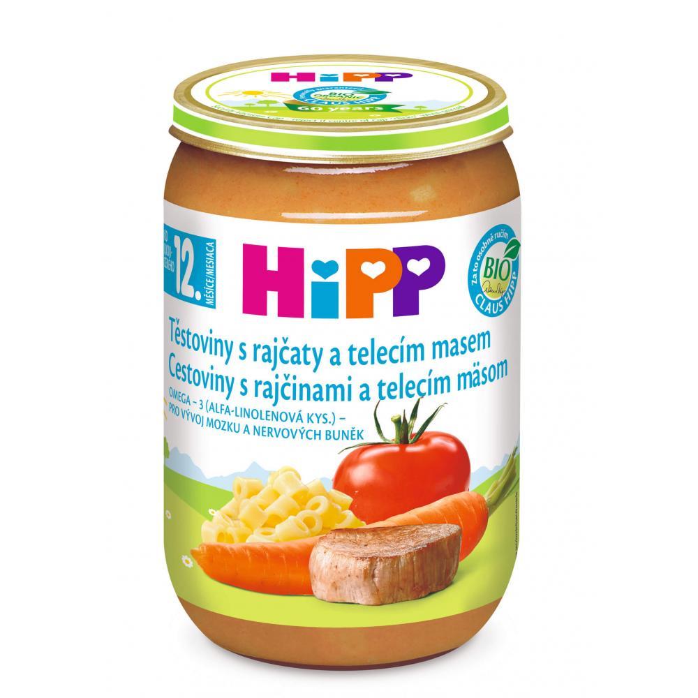 HIPP Menu Rajčata s těstovinami + telecí maso BIO 220 g