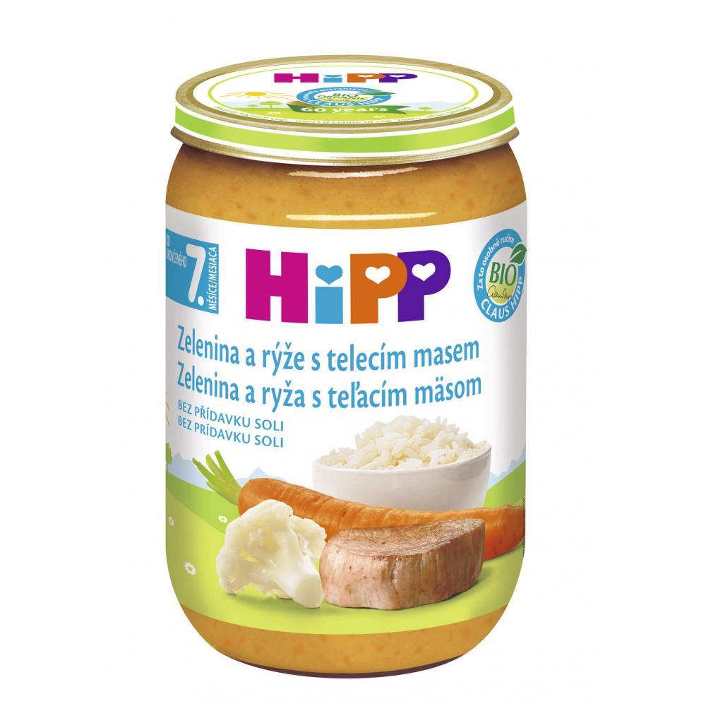HIPP Junior Zelenina s rýží a telecím masem BIO 220 g