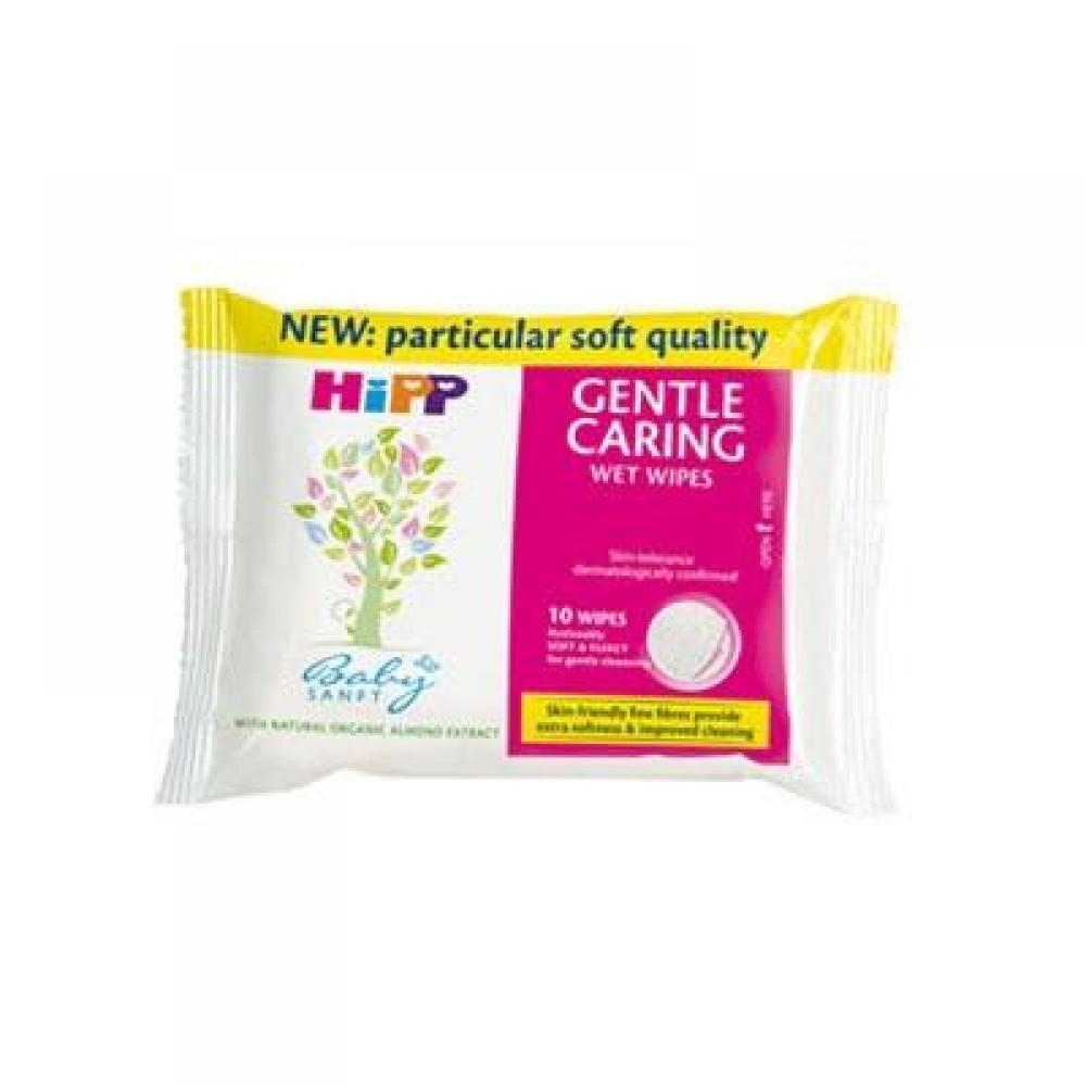 HIPP BabySanft Dětské čistící vlhčené ubrousky 56 kusů