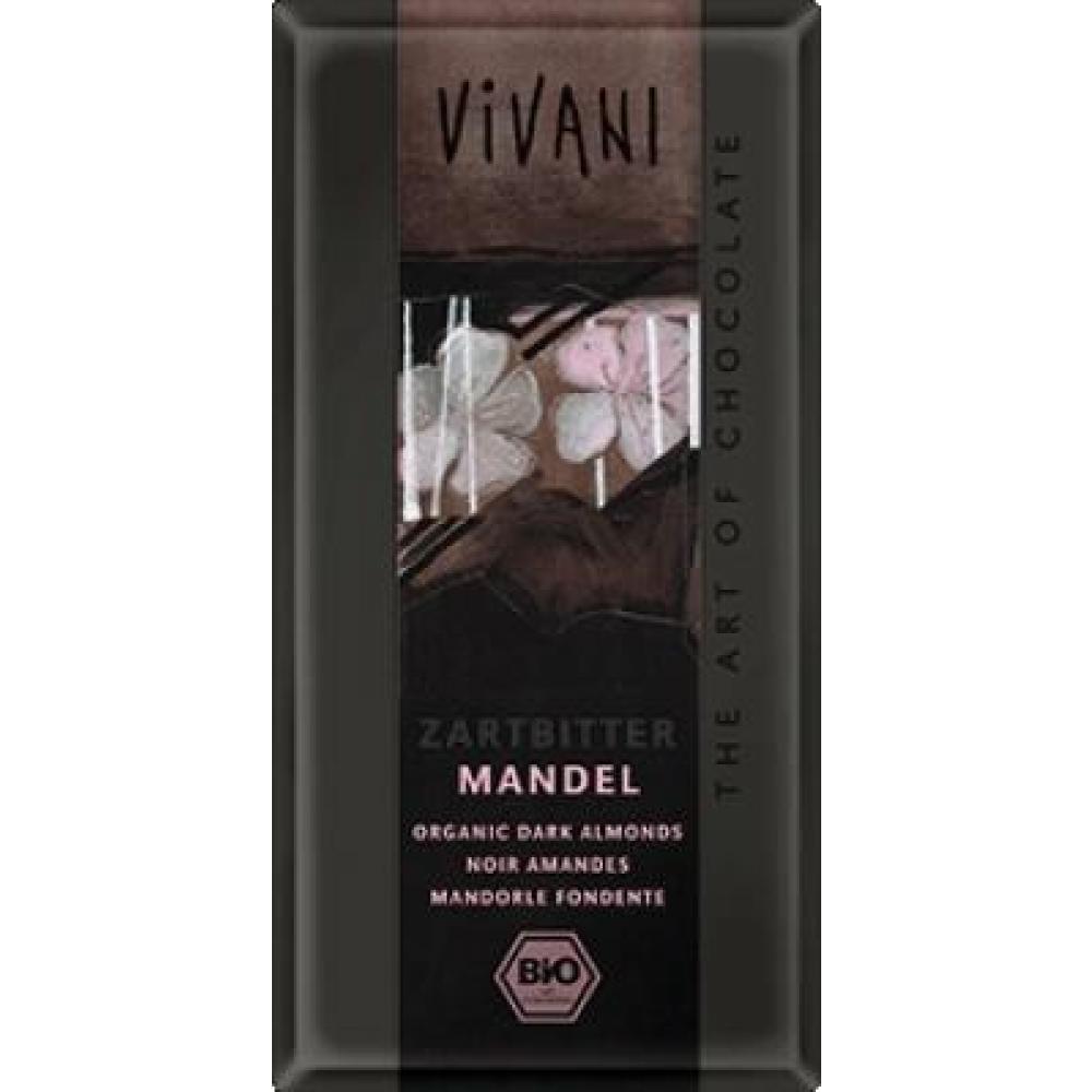 Hořká čokoláda s mandlemi VIVANI 100g-BIO